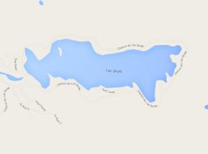 Carte du lac Brûlé